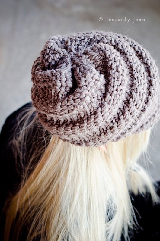 Hat Knitting Pattern PDF for The Swirl Beanie Hat With and Without Visor