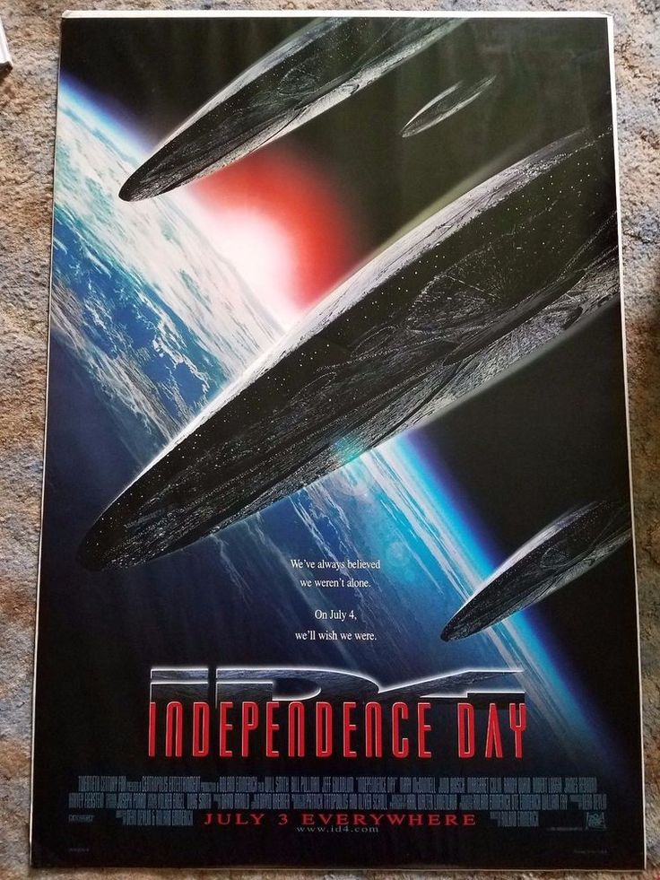 Independence Day 1996 original movie poster version B single-sided 27 x 40