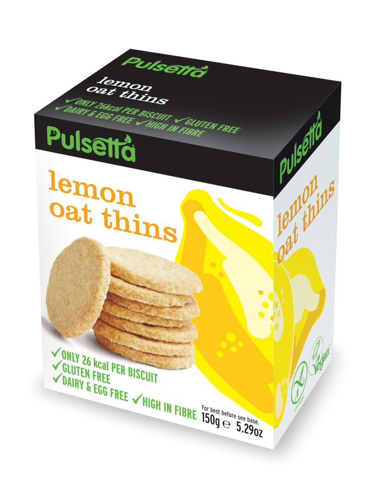 Pulsetta Lemon Oat Thins are little bursts of sunshine in a biscuit. Glutenfree and vegan.