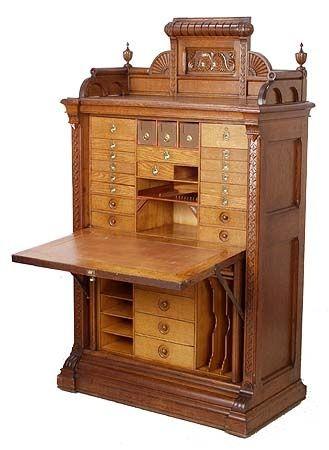 Vintage Furniture | wooden secretary....