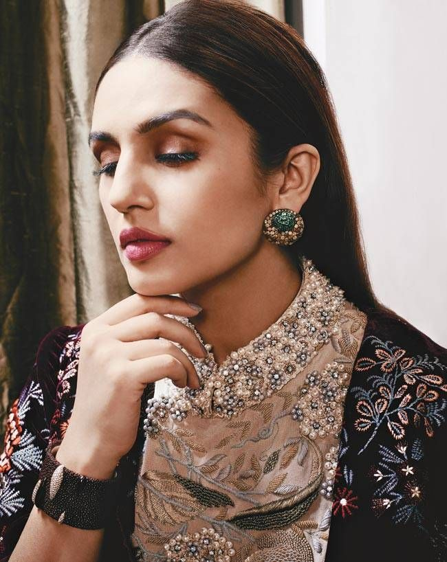 Huma Qureshi dons the best of bling for Harper's Bazaar Bride. #Bollywood #Fashion #Style #Beauty #Hot #Sexy