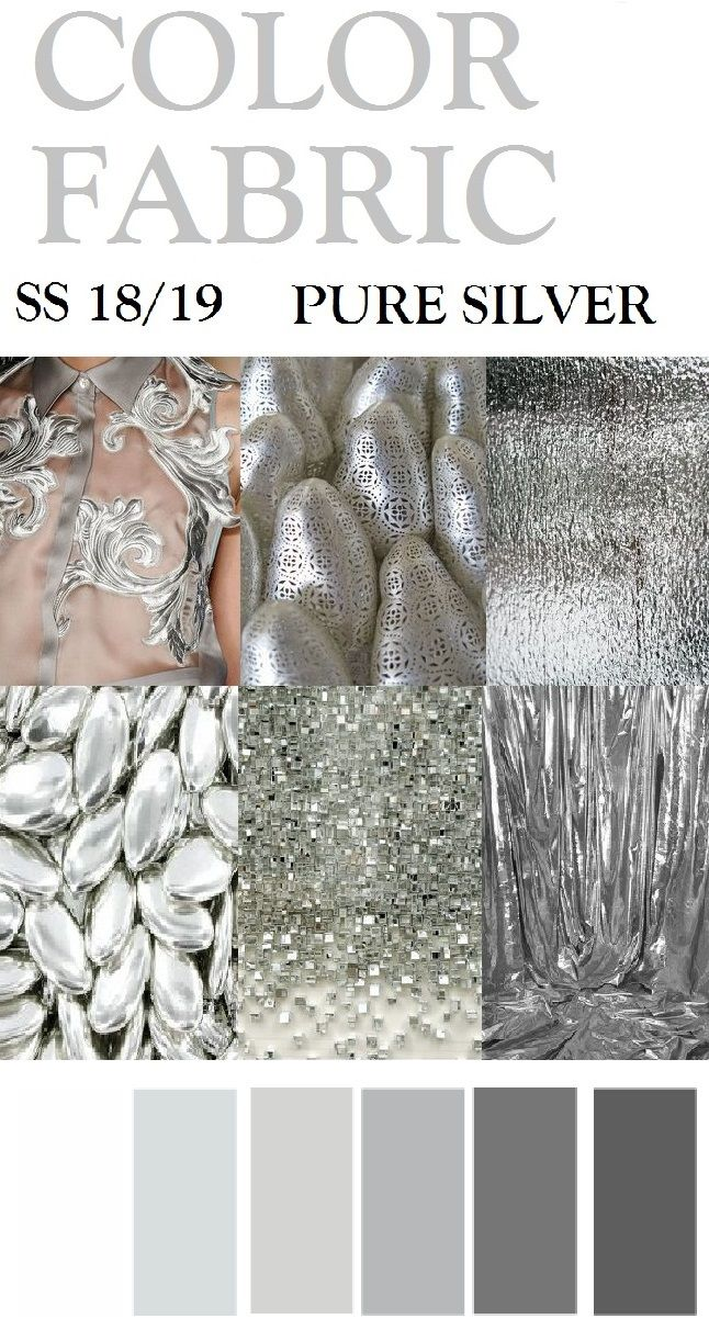 Fashion Forecaster- Shehjadi Umme Honey. SS 18/19,PURE SILVER //TRENDS //colors, Fabric,Materials & patterns