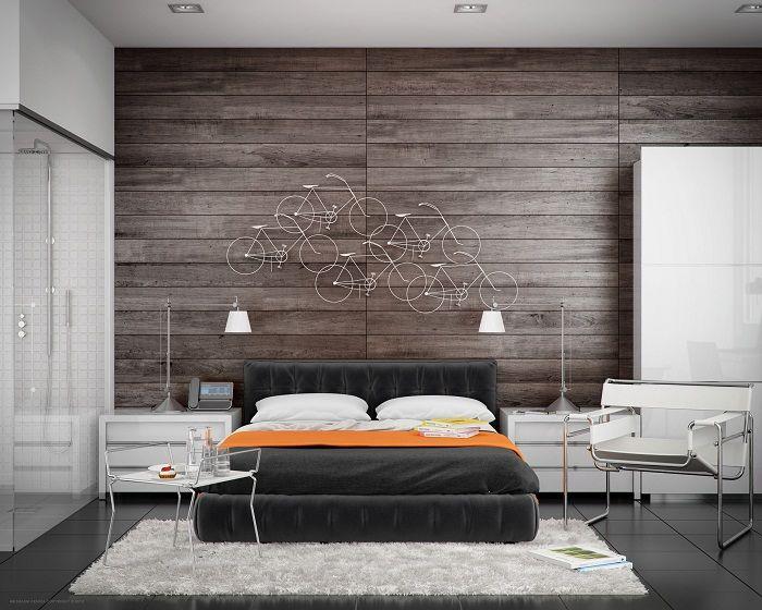 Крутое решение для преображения интерьера спальной в темных оттенках, что впечатлит.