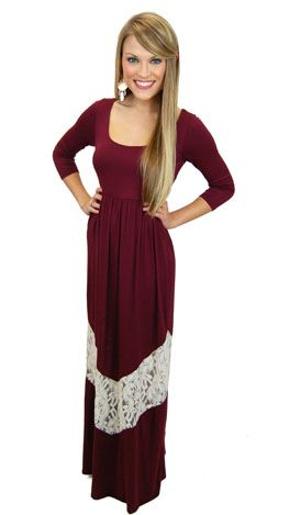 This maxi a soft and comfy knit... it's bra-friendly... it's moderate length works for a wide range of heights! $46 www.shopbluedoor.com