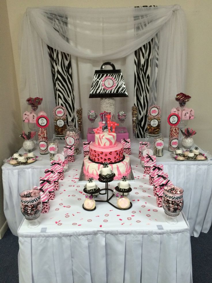 Pink Safari themed candy table ... shellysdecor4you@gmail.com #Birthdays #BabyShowers #Graduations etc...