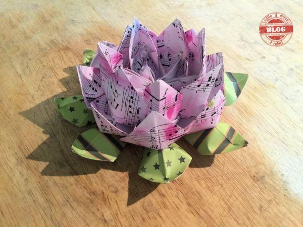Voglio il mondo a colori: Fior di loto origami
