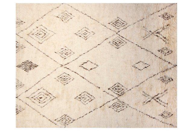 8'x10' Morrocan Berber Weave Rug, Ivory