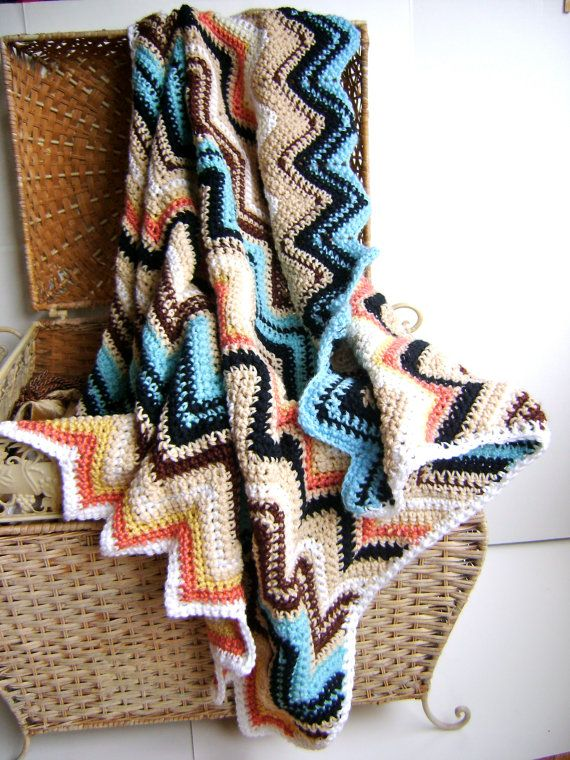 Missoni inspired knitted baby blanket  (is it strange that I want this for myself?)