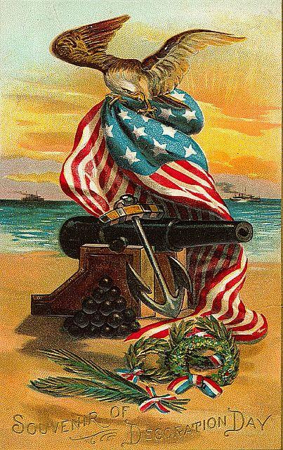 Vintage Americana. Decoration day.