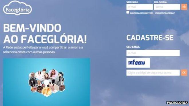 Facegloria homepage