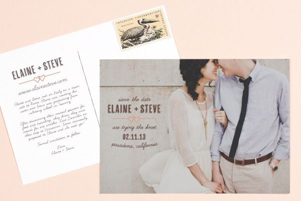 Like the postcard idea as a save the date for destination wedding