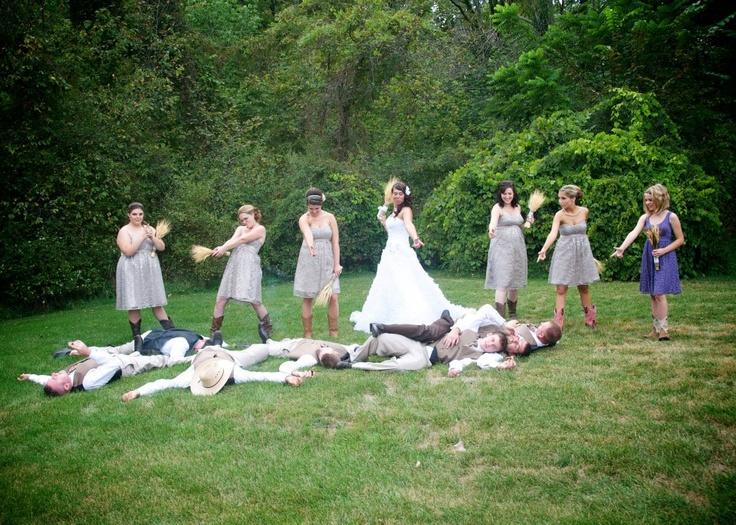 Country Rustic Wedding Bridesmaids Shoot Groomsmen Bride