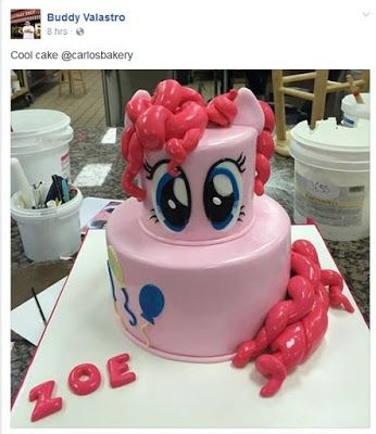 """Cake Boss"" Shows Off Pinkie Pie Cake to His 5 Million Followers"