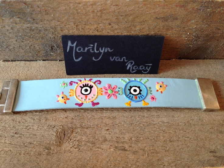 Especially made for customer!  #artbracelet by artist Marilyn van Raaij from Holland.