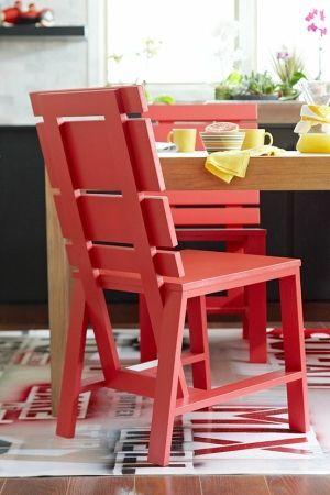 DIY Red Dining Chairs by tracey