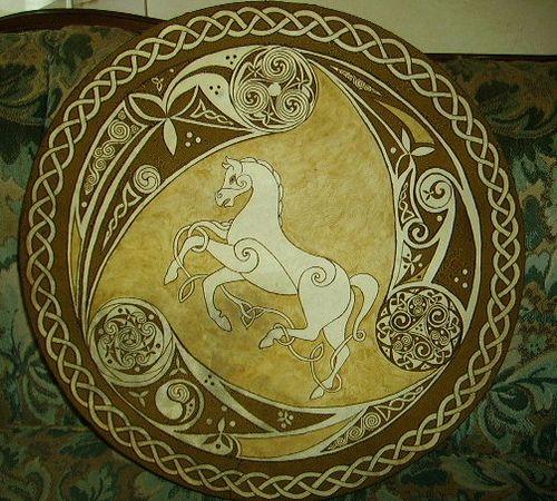 Celtic Horse bodhron   Flickr - Photo Sharing!