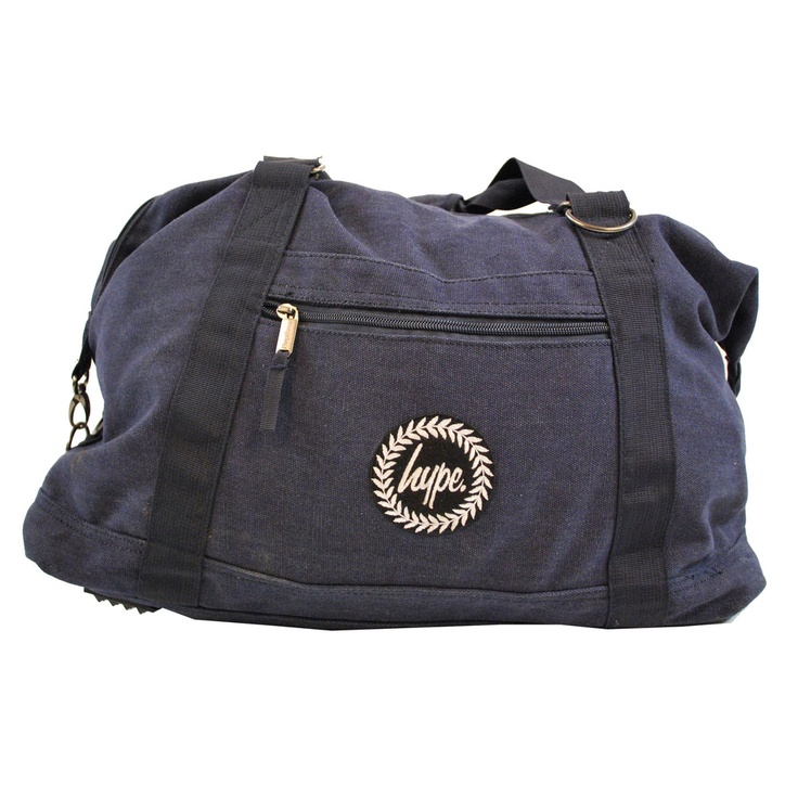 Essential over-night bag for the weekend, with the HYPE.CREST embroidered on the main pocket.    Shoulder and hand straps   Zipped main compartment and external zipped pocket. £24.99    Professionally appliquéd, double-stitched, embroidered holdall.