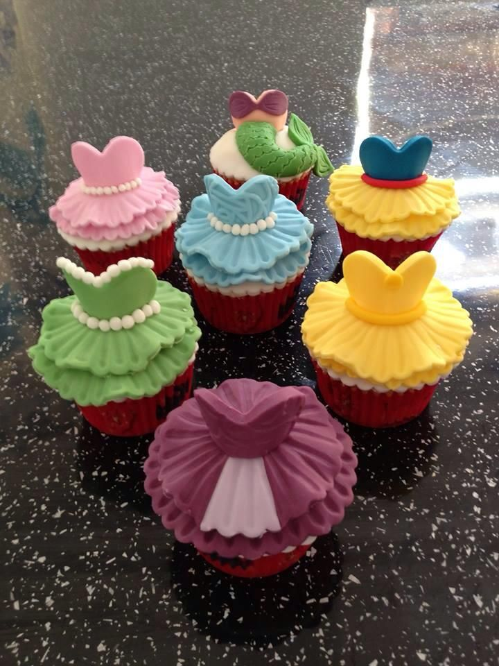 Jenna's princess cupcakes. Who's your favourite? #disneycakes