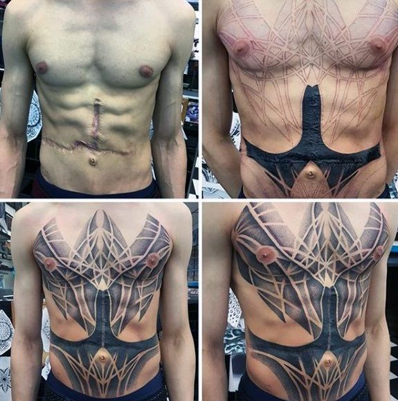 50 Chest Cover Up Tattoos For Men Upper Body Design Ideas In 2020 Cover Up Tattoos For Men Cover Up Tattoos Tattoos For Guys