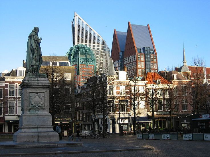 The Hague, city by the sea, Netherlands. Our skyline shows history and brand new architecture