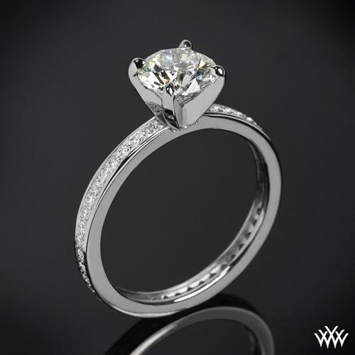 Spectacular  uChannel Bead Set u Diamond Engagement Ring