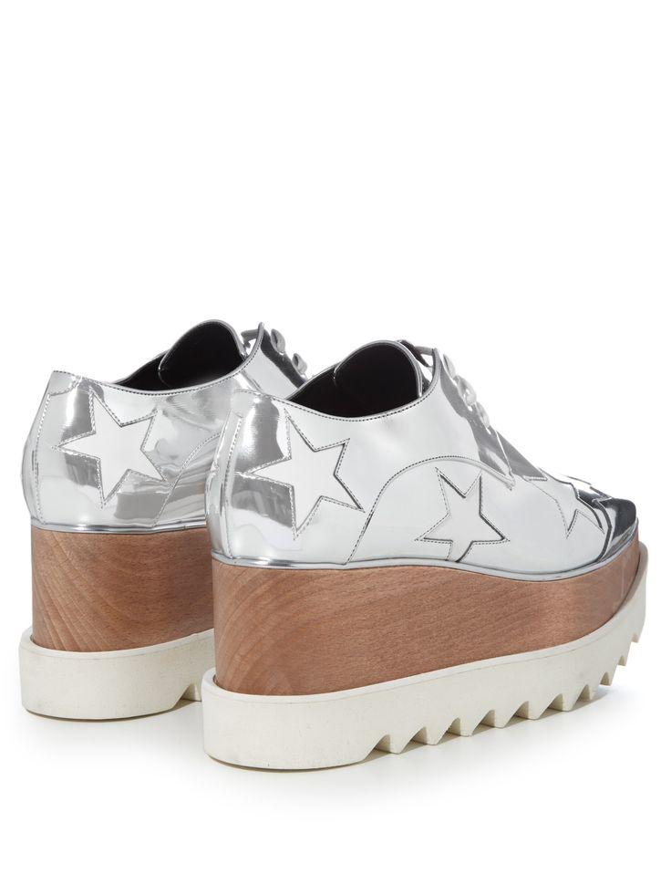 Elyse metallic lace-up platform shoes   Stella McCartney   MATCHESFASHION.COM US