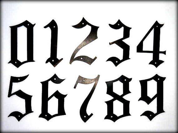 Afbeeldingsresultaat voor Old English number | Number ...Old English Numbers