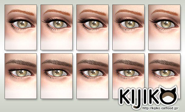 The Sims 4 CC || Kijiko || 3D Lashes