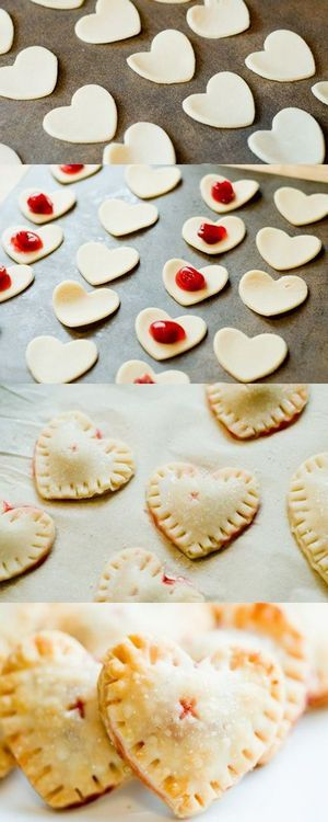 Mini heart cookies -- Perfect dainty decision for special romantic occasions! These lovely delicate cookies are indeed easy and fast in making so don't be afraid that process of preparing will spoil your peculiar mood. Making them is just unforgettable pleasure and fun!