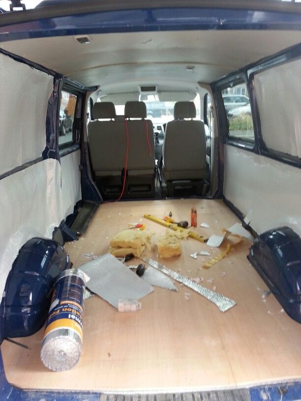 New Floor And Insulation In Vw Transporter T5 Camper Conversion