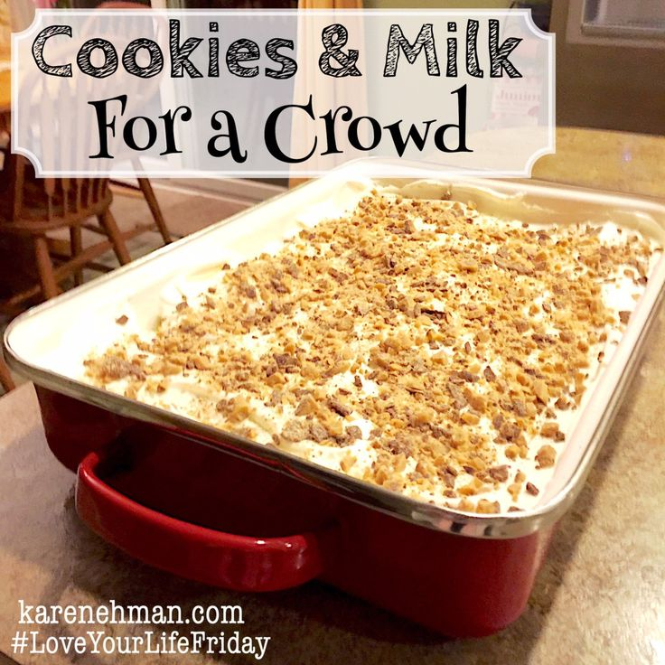 Are you ready for the easiest dessert ever? And not only easy….delicious! Seriously. Each time I take this people ask for the recipe. I first found this dish when my son came home from his fr…