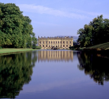 """Side yard?: Chatsworth, 126-room home of the Duke and Duchess of Devonshire. Owned by the Cavendish family since the mid-16th century, it is part of more than 35,000 acres owned by the Estate in the Peake District of Derbyshire and in Staffordshire. Over 100 acres of gardens and sections of the house are open to the public. And yes, this was Mr. Darcy's house in the 2004 filming of """"Pride and Prejudice."""""""
