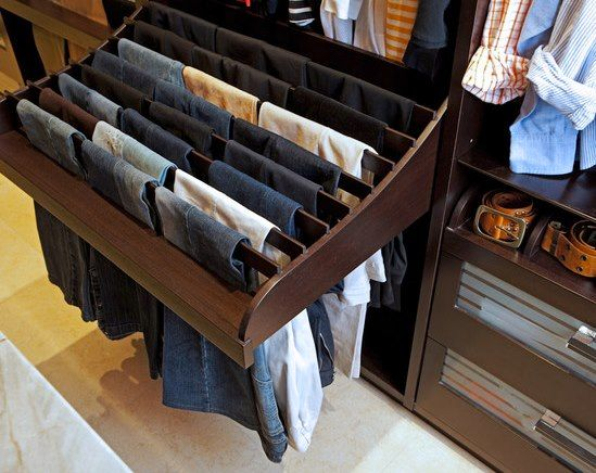 Keep your pants organised and wrinkle free with a slide out organiser.