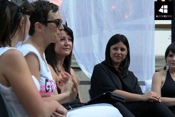 Stefania Natalino, editore di Autori Ebook, durante il Rome Fringe Festival