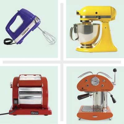 Colorful countertop small appliances different types for Types of kitchen appliances