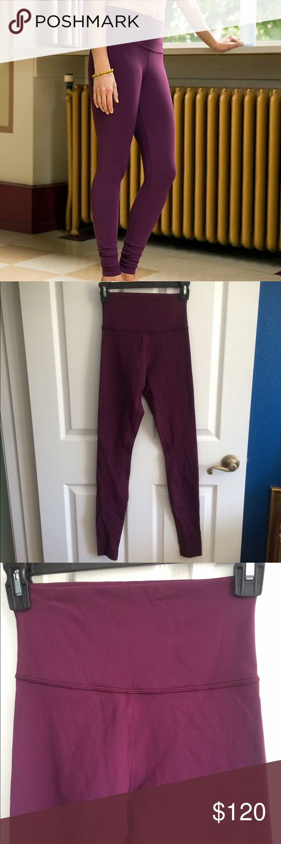 NEW lululemon Wunder Under Pant Hi/Lo Bordeaux 4 RARE and BRAND NEW lululemon Wunder Under Pant High/Low Bordeaux size 4. Never worn. Wear the waistband high or fold it down for a different fit. Inside tag still attached. lululemon athletica Pants Leggings