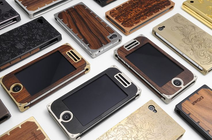 Poshest hand crafted iPhone covers, from @EXOvault ~ note they cost as much as the phone... They are lovely tho'
