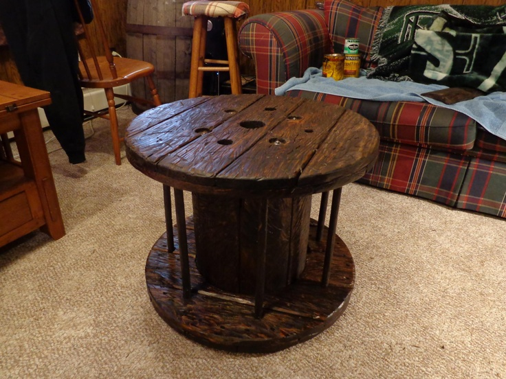 Spool table Gypies -J-O-E- | joes keeper | Spool tables, Stained table, Large wooden spools