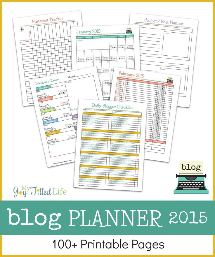 Are you ready to start planning for the 2015 blogging year?  The Blog Planner 2015 is all you will need to get started and stay organized for the entire year!! 100+ printable pages!