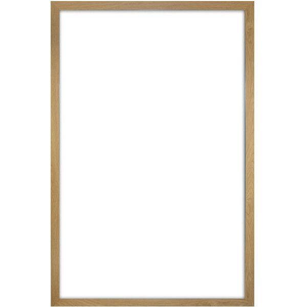 poster frame 61 x 91 5cm light oak wood