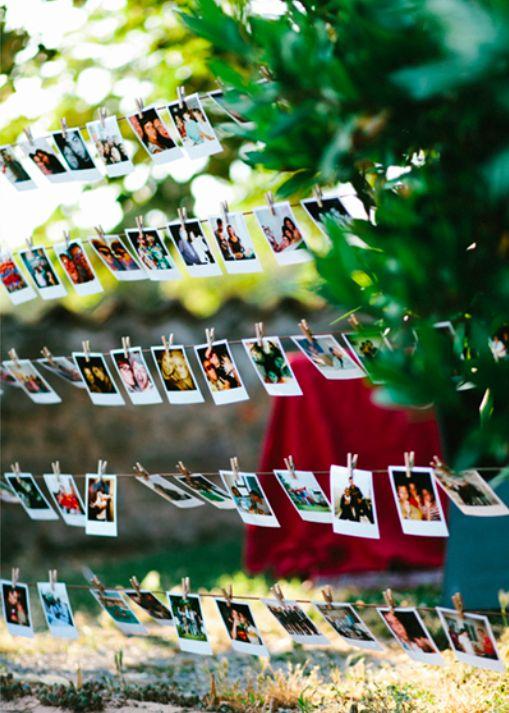 decoración de boda con fotos