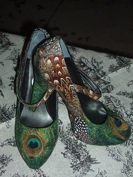 Peacock heels