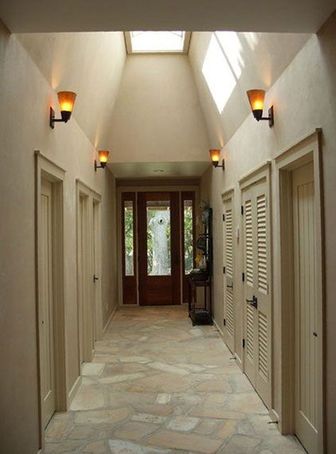 hallway doors blend in with wall color door