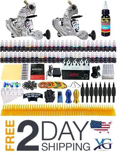 Tattoo-Complete-Solong-Tattoo-Kit-2-Pro-Machine-Guns-54-Inks-Power-Supply-2016