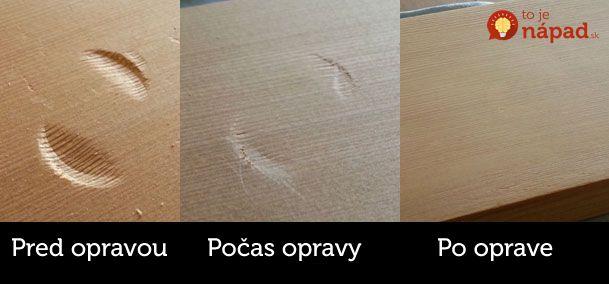 Jednoduchý trik, ako odstrániť preliačiny a jamky z dreveného nábytku! Postup nájdete tu: http://www.tojenapad.sk/jednoduchy-trik-ako-odstranit-preliaciny-a-jamky-z-dreveneho-nabytku/