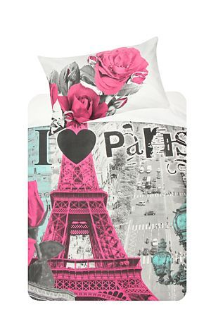 """This duvet cover set with photographic print of Paris is made from a 132 thread count Polycotton. Single and three quarter include 1 standard pillowcase, double includes 2 standard pillowcases.<div class=""""pdpDescContent""""><BR /><BR /><b class=""""pdpDesc"""">Fabric Content:</b><BR />50% Polyester 50% Cotton<BR /><BR /><b class=""""pdpDesc"""">Wash Care:</b><BR>Lukewarm machine wash</div>"""