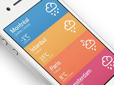#minimalistic #ui for weather application