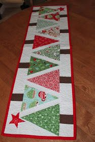 sewcial stash christmas table runner