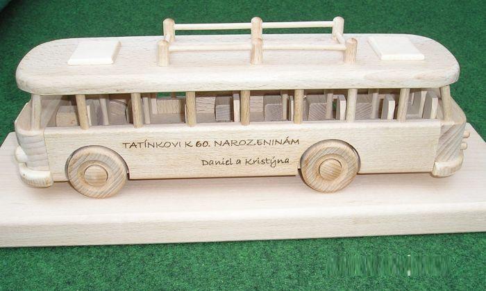 Speelgoed Bus Houten speelgoed