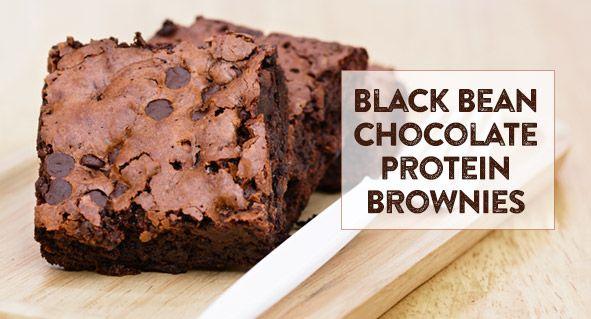 Black Bean Chocolate Protein Brownies